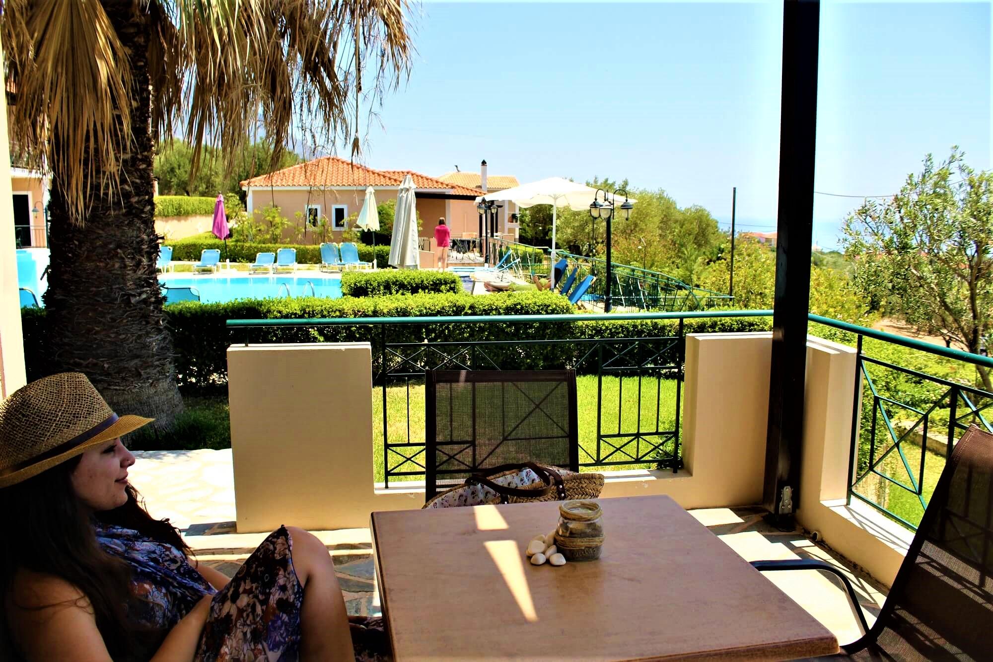 Oneira Villas Kefalonia balcony villa Amalia